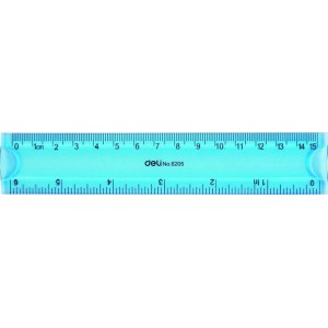 Rigla flexibila color, 15 cm, Deli - ACOMI.ro