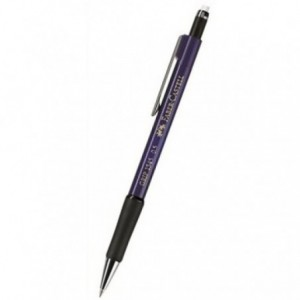 Creion mecanic 0.5mm, albastru metalizat, Grip 1345 Faber-Castell - ACOMI.ro
