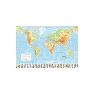 Harta plastifiata, 70 x 50cm, AMCO PRESS -  Lumea fizica
