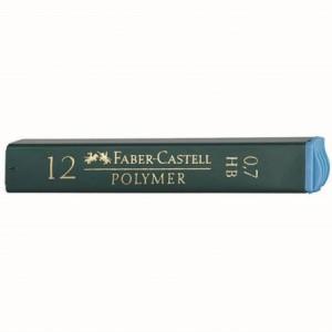 Mina creion 0.7mm, 2B, Polymer Faber-Castell - ACOMI.ro
