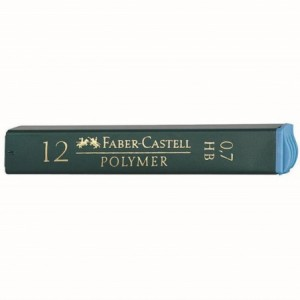 Mina creion 0.7mm, B, Polymer Faber-Castell - ACOMI.ro