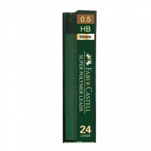 Mina creion 0.5mm, 24 buc/etui, HB, Super Hi-Polymer Faber-Castell - ACOMI.ro