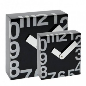 Ceas de perete 250 x 250 mm, TIQ cifre arabe - negru