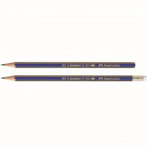 Creion grafit B cu guma, Goldfaber 1221 Faber Castell - ACOMI.ro