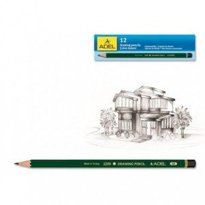 Creion grafit pentru desen, mina 7B, 2200 Adel - ACOMI.ro
