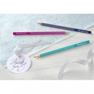 Creion grafit mina B, roz neon, Sparkle Faber Castell - ACOMI.ro