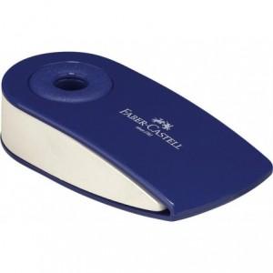 Radiera creion rosu/albastra, Sleeve Mini Faber Castell - ACOMI.ro