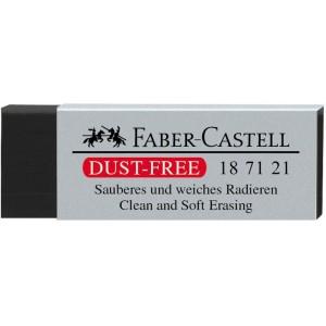Radiera creion neagra, 63x22x12mm, Dust Free 7121 Faber Castell - ACOMI.ro