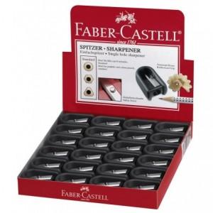 Ascutitoare plastic simpla cu cauciuc Faber Castell - ACOMI.ro