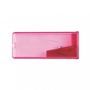 Ascutitoare plastic cu container, fluorescenta, Faber Castell - ACOMI.ro