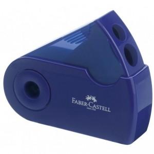 Ascutitoare plastic dubla, rosu/albastru, Sleeve Faber Castell - ACOMI.ro
