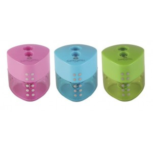 Ascutitoare plastic dubla, Grip Pastel Faber Castell - ACOMI.ro