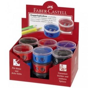 Ascutitoare dubla cu container, rosu/albastru, Twist Off Faber Castell - ACOMI.ro