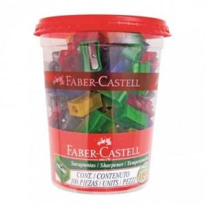 Ascutitoare plastic simpla, 100 Faber Castell - ACOMI.ro