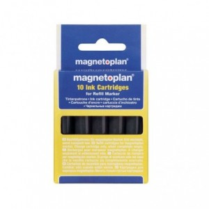 Refill marker whiteboard 10 buc/set, negru, MAGNETOPLAN - ACOMI.ro