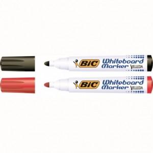 Marker whiteboard 2-4mm, 4 culori/set, Velleda Bic - ACOMI.ro