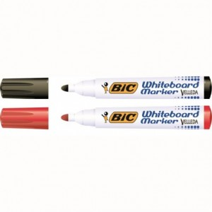 Marker whiteboard 2-4mm, rosu, Velleda Bic - ACOMI.ro