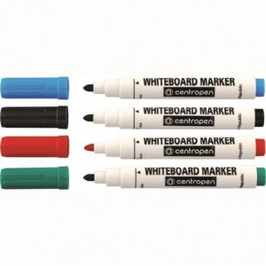 Marker whiteboard 2.5mm, 4 culori/set, 8559 Centropen - ACOMI.ro