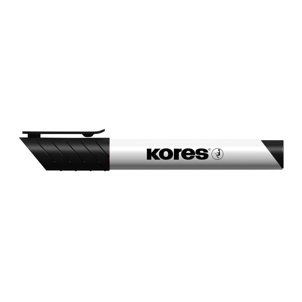 Marker whiteboard, 3mm, negru, Kores - ACOMI.ro