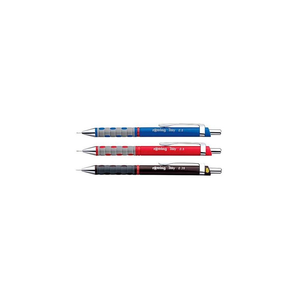 Creion mecanic profesional Rotring Tikky 3 negru, 0.35mm, con metalic
