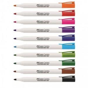 Marker whiteboard portocaliu, Slim 1560 Faber-Castell - ACOMI.ro
