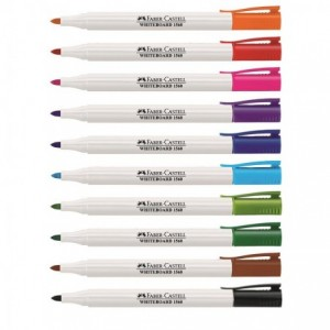 Marker whiteboard rosu, Slim 1560 Faber-Castell - ACOMI.ro