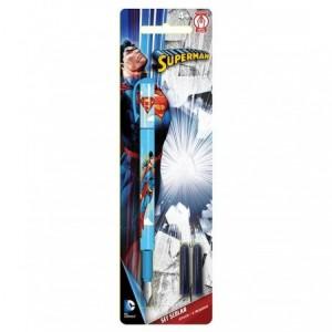 Stilou Iridium si 2 rezerve Superman Pigna - ACOMI.ro