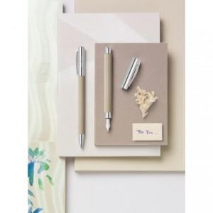 Stilou de lux Ambition OpArt White Sand M Faber-Castell - ACOMI.ro