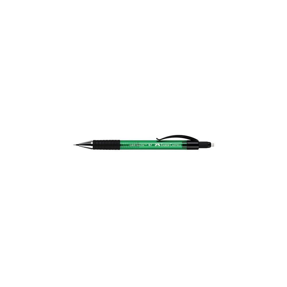 Creion mecanic 0.7 mm, Faber Castell Grip Matic - verde
