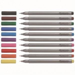 Liner FABER CASTELL Grip, 0.4mm, albastru-violet