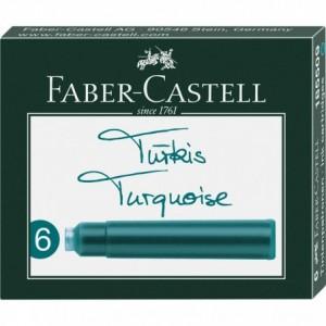 Cartuse cerneala mici Faber Castell - turcoaz
