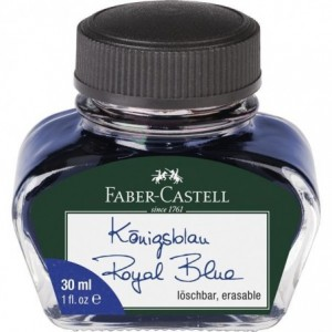 Cerneala 30 ml, albastra, Faber-Castell - ACOMI.ro