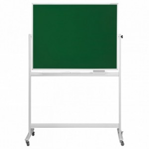 Tabla scolara SP pentru scris cu creta 200 x 100 cm, pe stand mobil - MAGNETOPLAN - ACOMI.ro