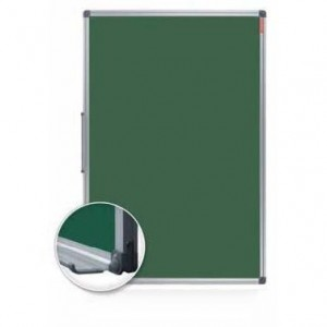 Tabla magnetica scolara, verde,  120 x 200 cm, rama aluminiu MEMOBOARDS Classic - ACOMI.ro