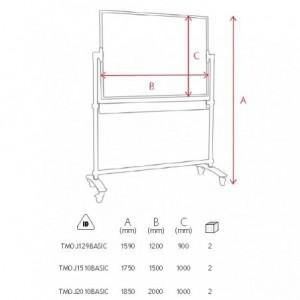Tabla magnetica mobila 90x120 cm MEMOBOARDS Basic - ACOMI.ro
