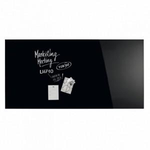 Design Glassboard magnetic negru, 200 x 100 cm, MAGNETOPLAN - ACOMI.ro