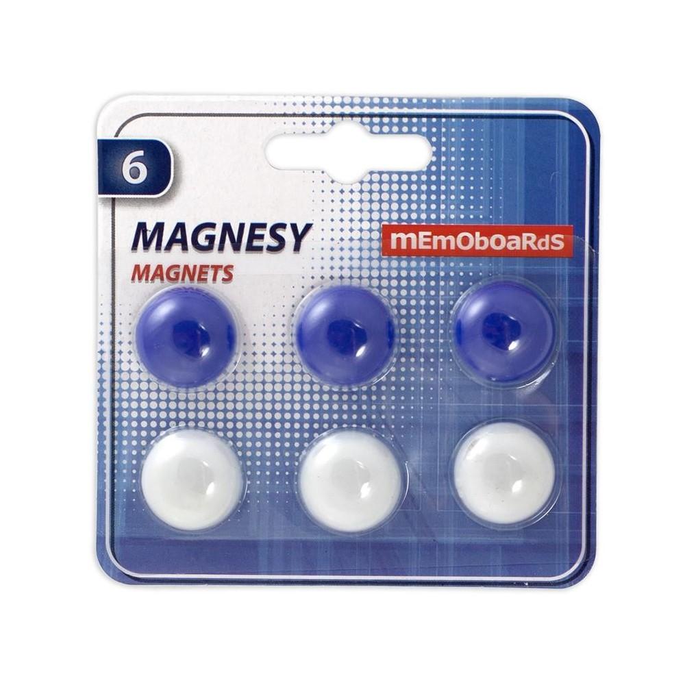 Magneti Whiteboard 20mm, 6 buc/set, Memoboards - ACOMI.ro