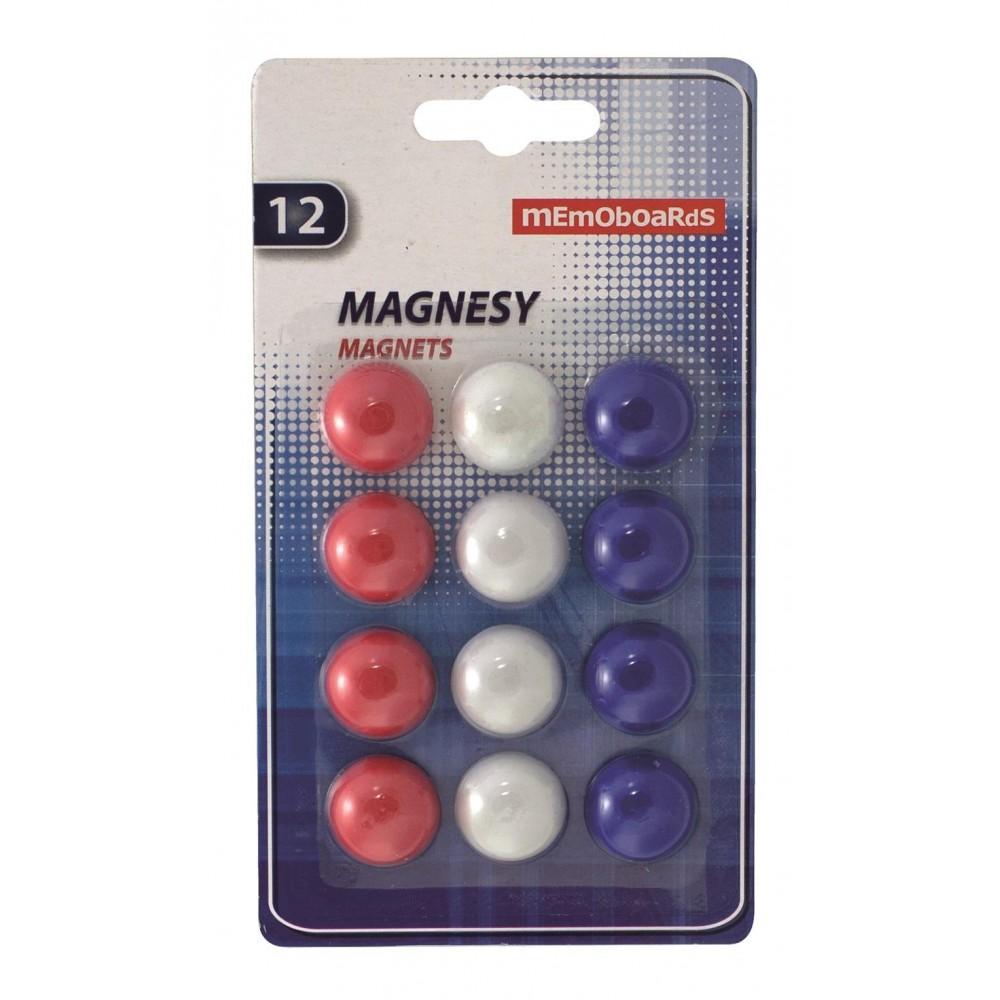 Magneti Whiteboard 20mm, 12 buc/set, Memoboards - ACOMI.ro
