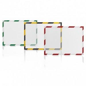 Folie magnetica rama alb/rosu, A4, 5 buc/set, MAGNETOPLAN - ACOMI.ro