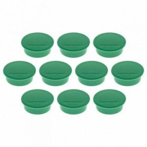Magneti Ø 40mm, verde 10 buc/set, Discofix COLOR MAGNETOPLAN - ACOMI.ro