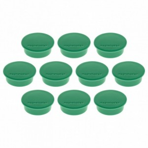 Magneti Ø 34mm, verde 10 buc/set, Discofix JUNIOR MAGNETOPLAN - ACOMI.ro