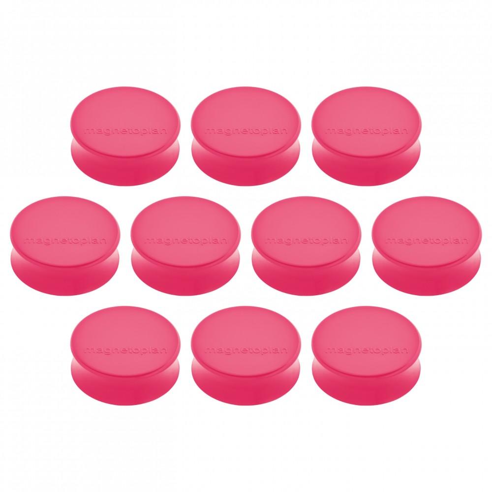 Magneti Ø 34 x 17,5mm, roz 10 buc/set, ERGO Large MAGNETOPLAN - ACOMI.ro