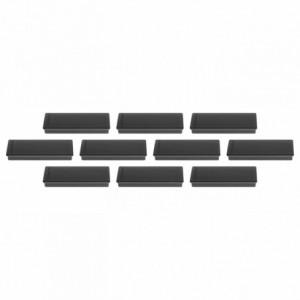 Magneti 54x19x8mm, negru 10 buc/set, rectangulari MAGNETOPLAN - ACOMI.ro