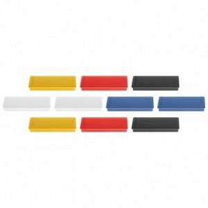 Magneti 54x19x8mm, asortate 10 buc/set, rectangulari MAGNETOPLAN - ACOMI.ro