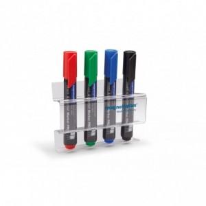Suport magnetic pentru 4 markere - acrilic MAGNETOPLAN - ACOMI.ro