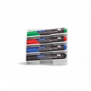 Suport magnetic pentru 4 markere - plastic rigid  MAGNETOPLAN - ACOMI.ro