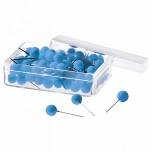 Ace cu gamalie 100 buc/cutie, albastru, MAGNETOPLAN - ACOMI.ro