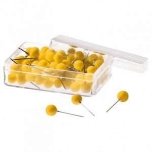 Ace cu gamalie 100 buc/cutie, galben, MAGNETOPLAN - ACOMI.ro