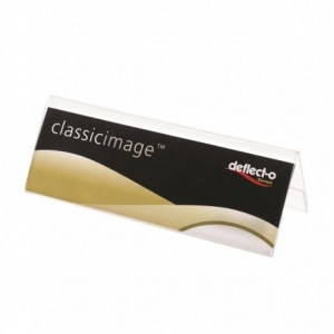 Suport nume A5, plastic transparent, Deflect-O - ACOMI.ro