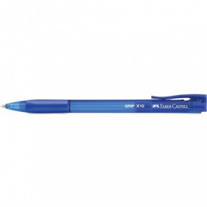 Pix cu mecanism Faber Castell Grip X10 - albastru